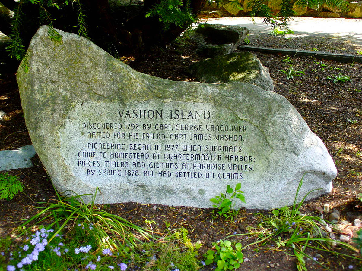 Vashon of History of Vashon Island