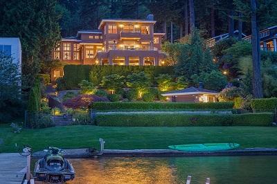 Big house near a lake