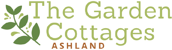 The Garden Cottages logo, a new construction subdivision in Ashland, Oregon.