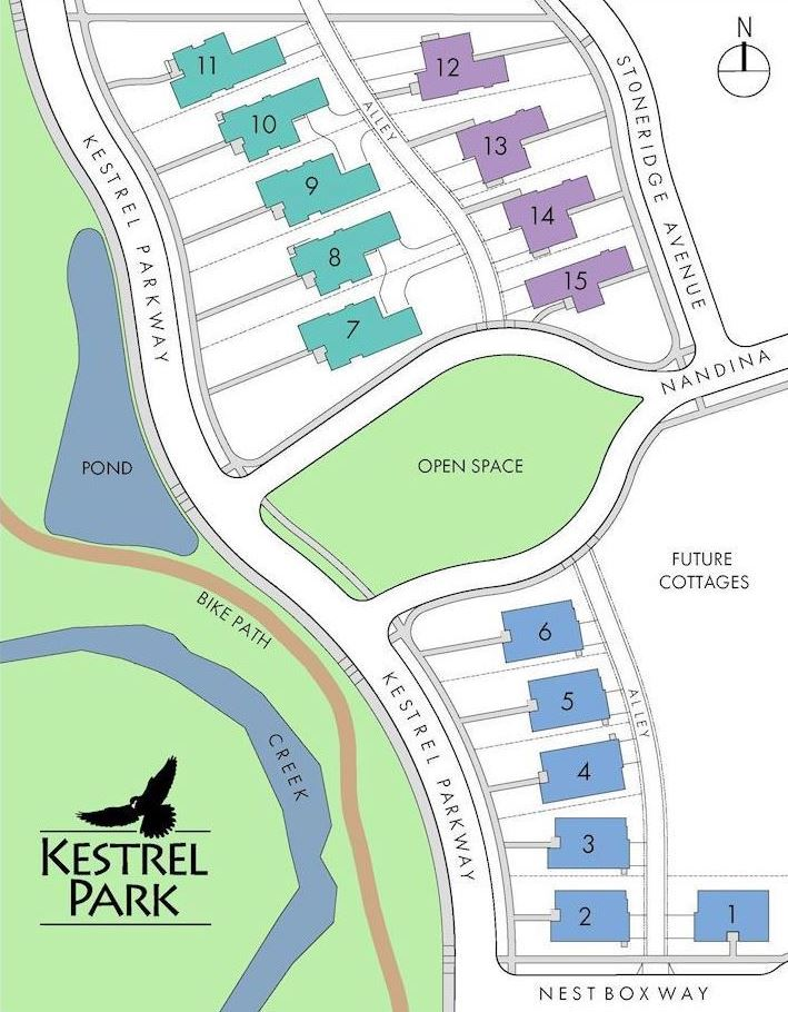 Kestrel Park Site Map